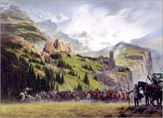 Daniel_Ted_Nasmith_The_Riders_of_Rohan #lotr
