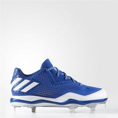 8210b5cb2 Adidas PowerAlley 4 Cleats (Collegiate Royal / Running White / Metallic  Silver) Adidas Baseball