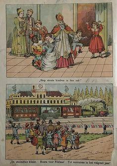 Illustraties uit het boekje St. Nicolaas en zijn knecht. Ca. 1890