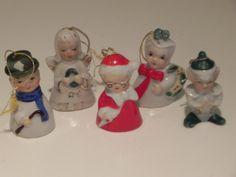 Ceramic Hand Painted Christmas Bell by baublesandblingforu on Etsy, $10.00