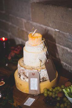 mmm bespoke cheese cake at a wedding
