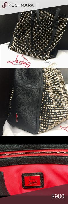 Christian Louboutin (Spike Mix) Panettone Tote bag This gorgeous rocker chic tote is perfect for any occasion and big enough to carry your essential belongings. Get ready for compliments all the time. It's a great combination of sexy and classy. Gently used, excellent condition. Christian Louboutin Bags Totes