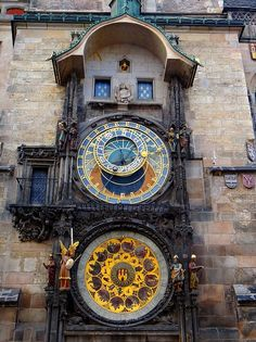 Prague Orloj (Astronomical Clock), Prague, Czech RepublicBuilt in Prague Orloj in Old Town is one of the oldest astronomical clocks in the world and the oldest that is still functioning. Beautiful Architecture, Art And Architecture, Cool Places To Visit, Places To Go, Prague Astronomical Clock, Prague Czech Republic, Grandfather Clock, Travel Wall, Beautiful World