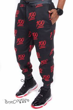 BrytCouture - 100 Emoji Limited Edition Joggers Sweatpants - Black, US$52.99 (http://www.brytcouture.com/100-emoji-limited-edition-joggers-sweatpants-black/)
