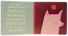 illustration, animal, pig, typography, naive. book.hipopotamstudio.pl