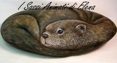 Elena Sanson   Dipinti su sasso: La lontra