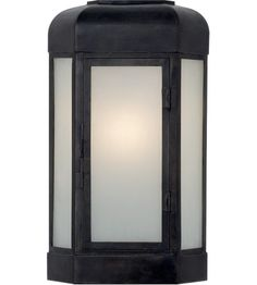 Visual Comfort CHO2004AI-FG E.F. Chapman Dublin 17 inch Aged Iron Outdoor Sconce, E.F. Chapman, Small, Faceted, Frosted Glass #LightingNewYork