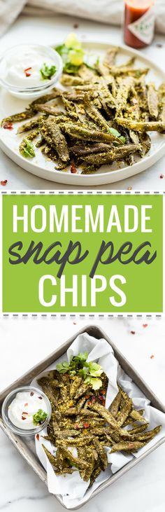 How to Make Homemade Snap Pea Chips in the oven or dehydrator! Have you ever wanted to make your own snap pea chips and save on money? Well its quite an easy recipe. Just season to your liking and pop in the oven or dehydrator. All its takes is 3 ingre Vegan Snacks, Easy Snacks, Healthy Snacks, Vegan Recipes, Easy Meals, Cooking Recipes, Healthy Eats, Snap Peas Chips, Appetizer Recipes