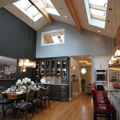 Kitchen lighting ideas vaulted ceiling home pinterest vaulted kitchen stunning kitchen lighting with vaulted ceiling traditional kitchen lighting idea in proportions aloadofball Image collections