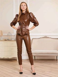 Street Style Outfits, Cool Outfits, Leather Pants Outfit, Leather Jeans, Leather Jackets, Black Leather, Leder Outfits, Sexy Latex, Girl Fashion
