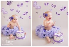 Purple Butterfly Cake Smash – Payton is ONE Yes.