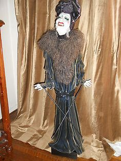 One of A Kind Papier Mache` Theatrical Art Doll Puppet by Artist Van Craig | eBay