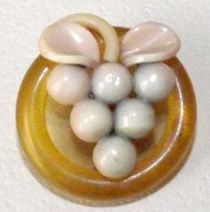 Vintage Button Celluloid Grapes by bluehousebuttons on Etsy, $14.99