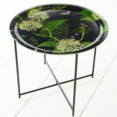 Michael Angove ferns and cow parsley tray table