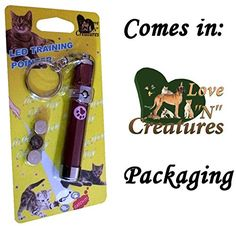 """Love """"N"""" Creatures Interactive LED Pointer Cat Toy, Red Paw"""