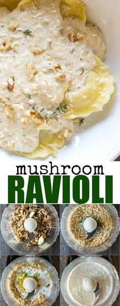 Pair store-bought Mushroom Ravioli with my delicious 6-ingredient creamy Walnut Sauce for a quick and easy dinner ready in 15 minutes or less!