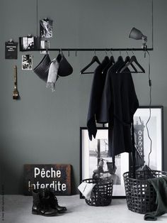 Great Images DIY Clothes Bar (IKEA Sweden - Life at Home) Suggestions There's nothing Better than a intelligent IKEA Crack of worn region, and it is a superb reason t Diy Clothes Bar, Clothes Rail Ikea, Hanging Clothes Racks, Clothes Storage, Clothes Hanger, Ikea Inspiration, Interior Inspiration, Style Inspiration, Apartment Curtains