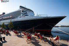 """Queen Mary 2 - Hamburger Hafen gefunden auf www.fotografie-heisler.de auf das Board """"Alles rund um Hamburch"""" gepinned von www.blickedeeler.de"""