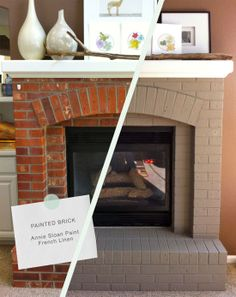 Annie Sloan chalk paint fireplace. Totally thinking about painting our fireplace now!!