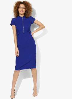 45006625cf3a Buy DOROTHY PERKINS Blue Coloured Solid Bodycon Dress Online - 3237061 -  Jabong