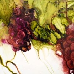 """Alcohol ink """" grapes"""" 