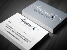 Loyalty card for Amour Hairdressing with personalised stamp Appointment Card, Appointments, Design Projects, Business Cards, Promotion, Religion, Place Card Holders, Loyalty Cards, Hairdressers