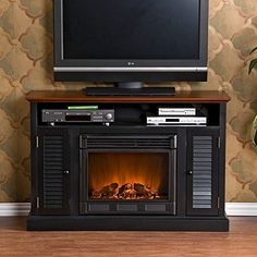 Dwyer Electric Fireplace Entertainment Center In Burnished