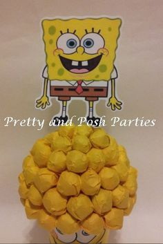 Hey, I found this really awesome Etsy listing at https://www.etsy.com/listing/179329625/sponge-bob-candy-bouquet