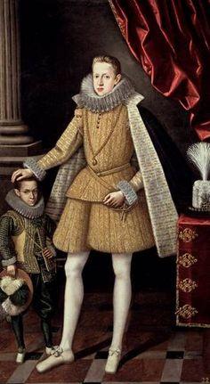 Philip IV with dwarf Soplillo, ca. 1620 (Rodrigo de Villandrando) (1588-1623) Museo Nacional del Prado, Madrid, P01234