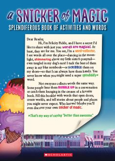 A Snicker of Magic: A Splendiferous Book of Activities and Words