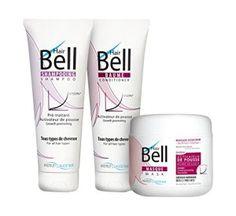 B2C Hairbell Set/Masque 500 ml + baume 250ml + shampooing 250 ml