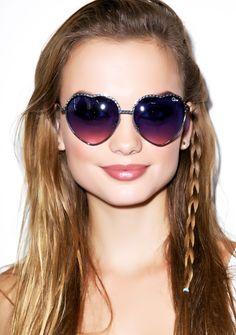 Quay Eyeware Hearts Sunglasses | Dolls Kill