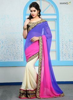 BEAUTIFUL MULTICOLORED GEORGETTE SHADED SAREE  CODE:-7220 PRICE:-2859/-