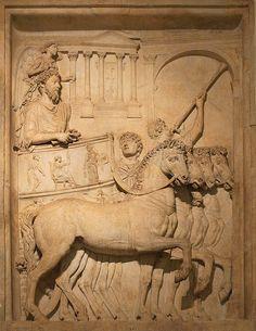 Marco Aurelio,relieve en marmol  Museos Capitolinos