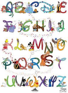 Disney Alphabet | Disney Alphabet (AS Graphics Project)