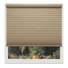 Linen Avenue Custom Cordless Tan Wide Harvest Light-fIltering Cellular Shade (21 1/4 W x 60 to 66 H) (Polyester)