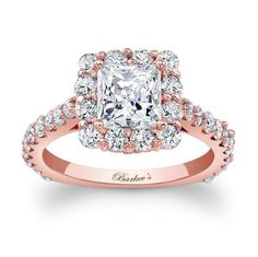 Rose gold engagements ring