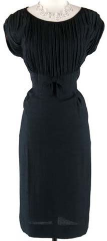 1950s Silk Pleated Dress.  Great Design is always in style.