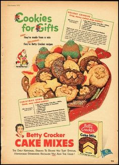Vintage Betty Crocker cookie ad.