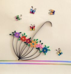 Paper, quilling, butterfly, umbrella, spring                                                                                                                                                                                 More