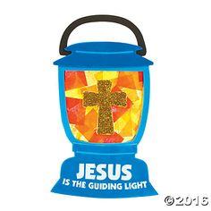 Tissue Paper Jesus Lights the Way Sign Craft Kit