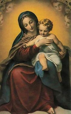 TradCatKnight: Most Holy Mary is the Mediatrix of Sinners Blessed Mother Mary, Divine Mother, Blessed Virgin Mary, Catholic Religion, Catholic Art, Religious Art, Catholic Saints, Rennaissance Art, La Madone