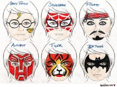 simple face painting ideas - Google Search