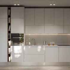 Cucina lunga e stretta, che ne dici del bianco? Richiesta della client Home Decor Kitchen, Home Kitchens, Bathroom Lighting, Divider, Sweet Home, Interior Design, Mirror, Furniture, Houses