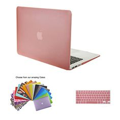 "TECOOL® 2 in 1 Frosted Matte Snap-on hard Shell Plastic Case Cover Skins and Silicone Keyboard Cover with TECOOL® Mouse Pad for MacBook Air 11"" Model: A1370 and A1465(Pink) TECOOL http://www.amazon.com/dp/B00QGDMDXM/ref=cm_sw_r_pi_dp_7k1Swb13M8FW0"