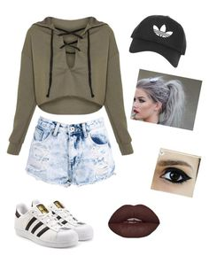 """""""Kristen Hancher"""" by angela-mccubbin on Polyvore featuring Boohoo, Topshop and adidas Originals"""