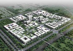 Competition-winning design for the new 'Nano-Polis Master Plan' in Suzhou, China by HENN ARCHITEKTEN