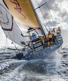August 2014 - Volvo Ocean Race - Photo by Ainhoa Sanchez                                                   Two thumbs up, Ainhoa!