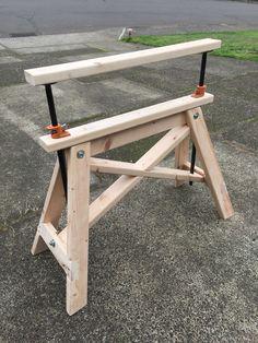 Adjustable Height Sawhorse #woodworkingtools