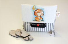 Pochette a righe grigie decorazione ad di LaCasettaNelBosco, €41.99